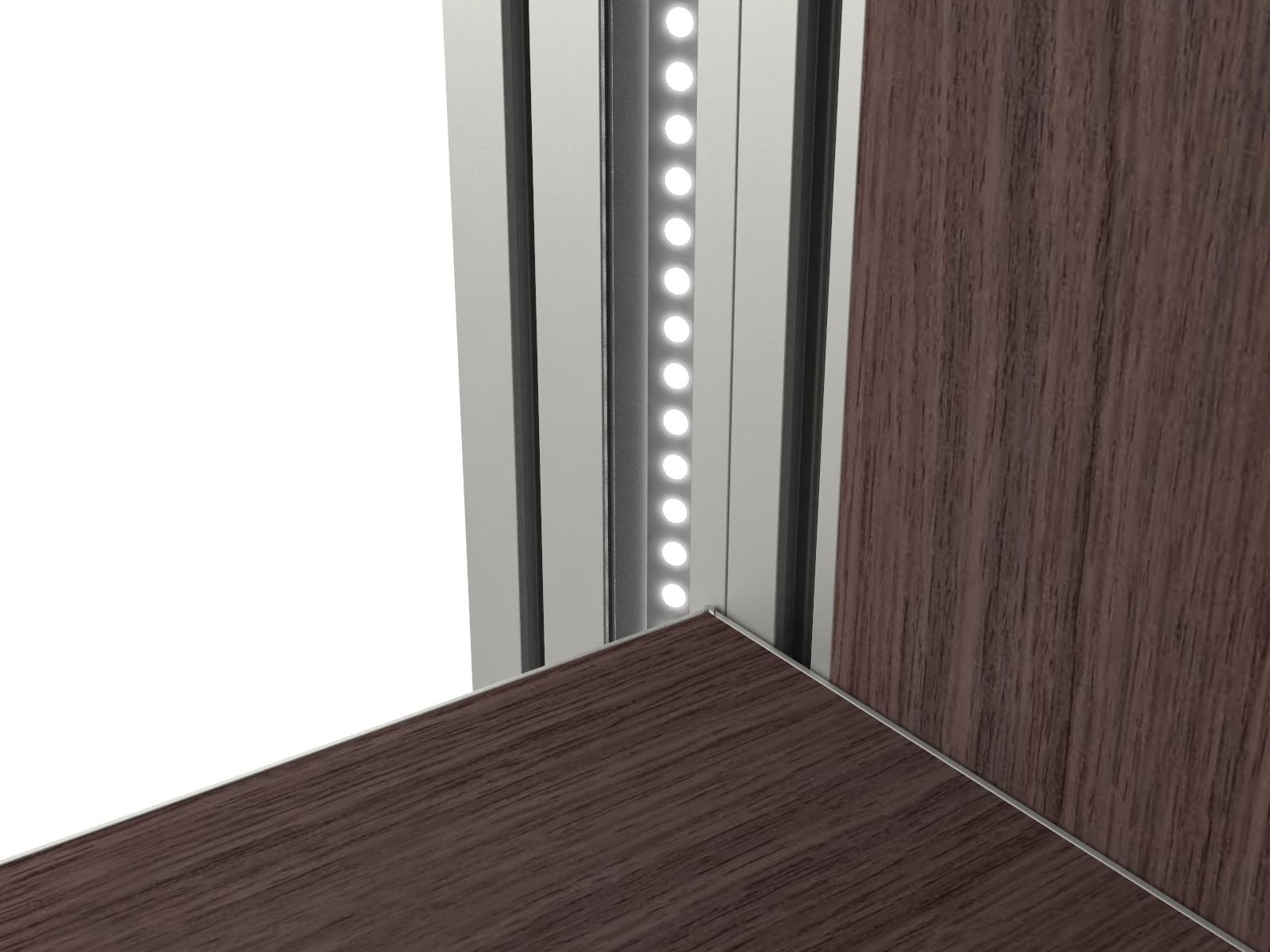 Functionele verticale led verlichting dress a way inloopkasten