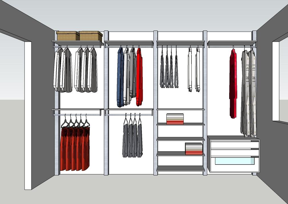 Inloopkast ontwerpen modulaire inloopkasten op maat dress a way - Modulaire muur ...